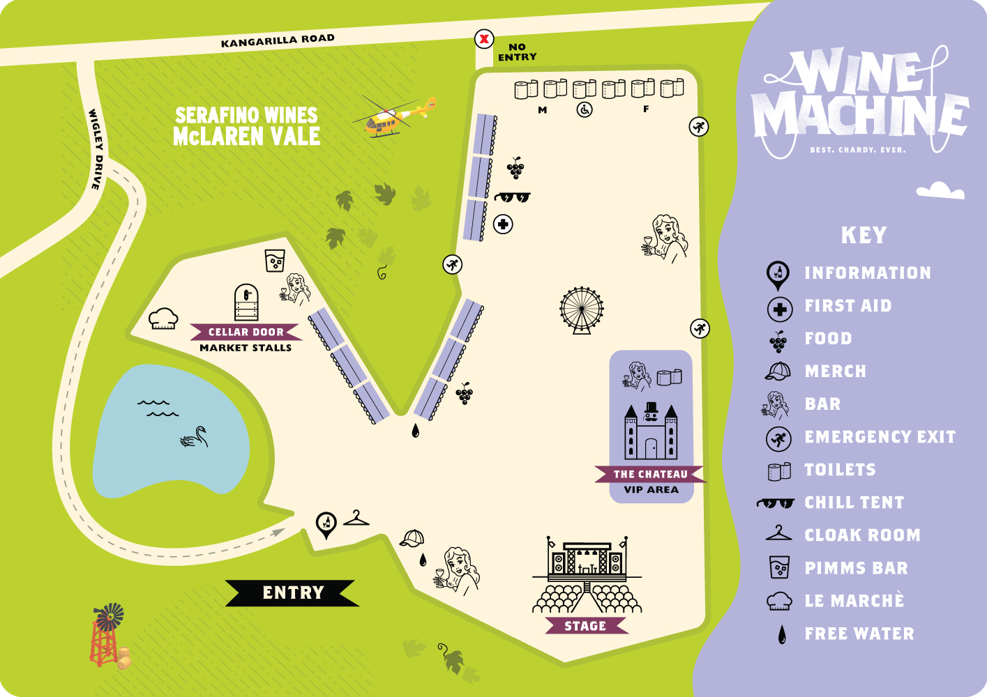 mclaren vale wine machine map
